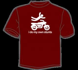 DO MY OWN STUNTS T Shirt MENS funny vtg 80s retro