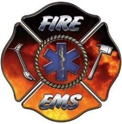 Firefighter Decal Star of Life EMT EMS MFR Fire FF19