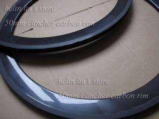 700c 50mm carbon clincher rim /carbon road bike clincher rim