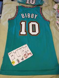 Mike Bibby Rookie Verson Adidas HWC Vancouver Grizzlies Away Swingman