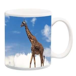 Knight Giraffe on blue sky Photo Quality 11 oz Ceramic Coffee Mug cup