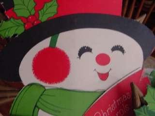 16 VTG Snowman & Mrs Snowlady HALLMARK die cuts mounted CHRISTMAS