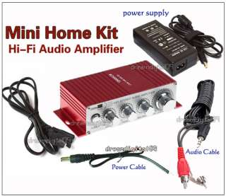 Hi Fi Audio Stereo Amp Amplifier Kit For Ipod Boat MP3