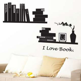 BOOK Home Art Decor Mural Wall Sticker Decal #157