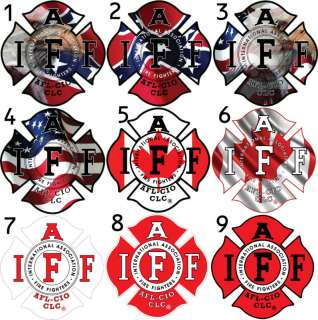 One   4 IAFF Firefighter Sticker Decal 36 Options