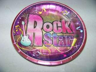 ROCK STAR Birthday Party 7 CAKE DESSERT PLATES