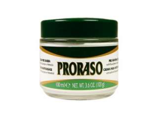 BRAND NEW PRORASO Pre & Post Shave Shaving Cream & Aftershave Balm