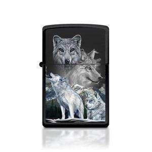ZIPPO WHITE WOLVES LIGHTER   NEW IN BOX