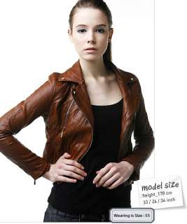 Browns Unique Lamb sheep Motorcycle Biker Rider Leather Jacket