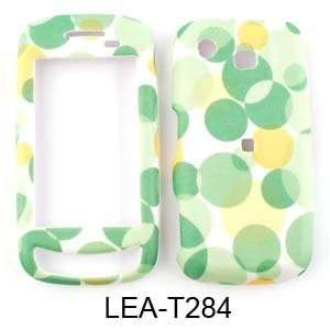 Fabric Snap On, Green Bubbles on White Hard Case/Cover/Faceplate/Snap
