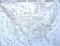 PLASTIC USA UNITED STATES MAP EDUCATIONAL HOME SCHOOL