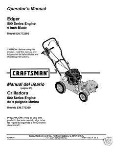 Craftsman Edger Manual Model # 536.772360