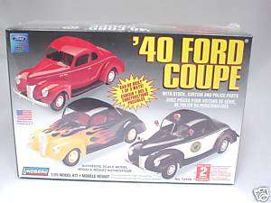 1940 FORD COUPE LINDBERG MODEL KIT 1/25 NEW 3 IN 1