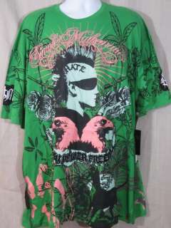 Mens Simple Mathematics T Shirt Floral Punk Mohawk 4X