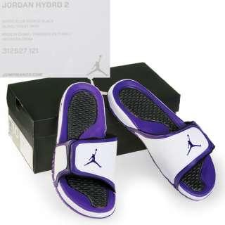 NIKE JORDAN HYDRO 2 MENS Size 12 White Club Sandals Slides Slippers