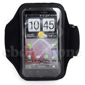 BLACK SPORT ARM BAND CASE COVER FOR HTC EVO 3D CDMA
