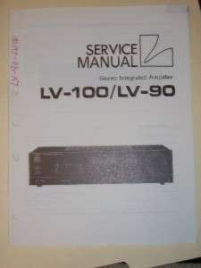 Luxman Service Manual~LV 100/90 Amplifier/Amp~Original