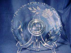 Gorgeous Crystal Cut & Etched Pedestal Cake Plate Stand