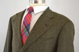 Mens Brown 100% Pure Cashmere 3 Button Sport Coat Blazer (44R)