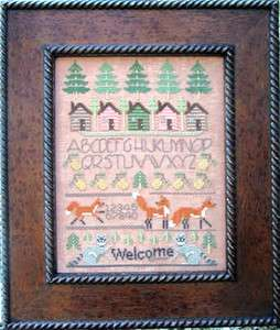 WOODLAND SAMPLER CROSS STITCH DESIGNS BY LISA