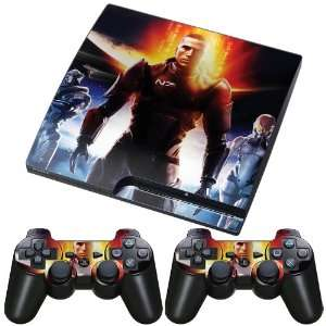 Meestick Mass Effect Vinyl Adhesive Decal Skin for Playstation Slim