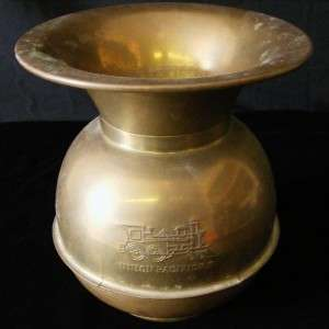 Union Pacific Railroad Solid Brass Spittoon