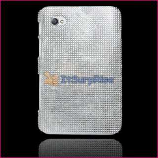 Silver Bling Hard Case For Samsung Galaxy TAB P1000 New