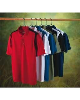 IZOD GOLF Mens Dri Fit Contrast Stripe Polo Shirt COLOR