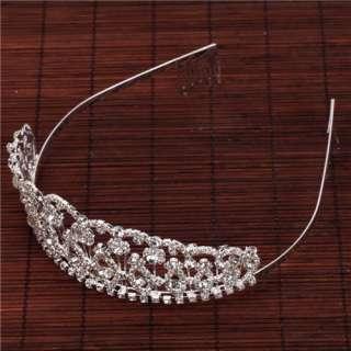 Noblest Shining Rhinestone Crown Headband Wedding Headband Tiara