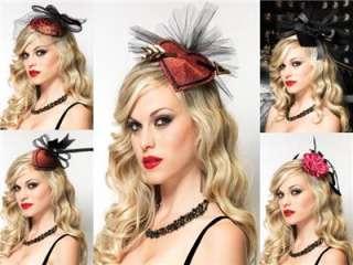 DELUXE BURLESQUE 1940s RETRO PIN UP HAIR CLIP FASCINATORS HATS