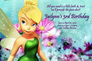 Tinkerbell Personalized Custom Birthday Invitation