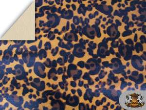 Vinyl GOLD BLACK LEOPARD Fake Leather Upholstery Fabric