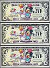 2009 $ 5 disney dollar consecutive s a new expedited