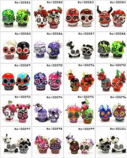 Custom Made Personalized Skull Day of Dead Theme Wedding Cake Topper