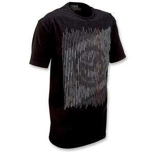 Moose Racing Scramble T Shirt   Large/Black Automotive