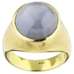 14k Yellow Gold and Star Sapphire Ring