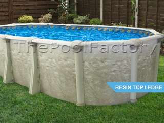 18X33X52 Oval SALT WATER Above Ground Swimming Pool Package 7 WIDE