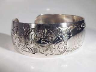 Vintage S. Kirk & Son Sterling Silver Cuff Bracelet