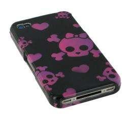 rooCASE Apple iPhone 4 Pink Cutie Skull Case