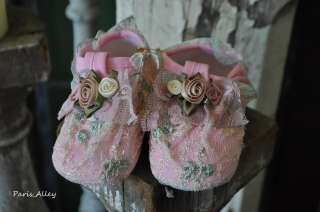 Meadow Dew~ Vintage Toddler Reborn Baby Doll Shoes