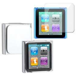 Crystal Case/ Screen Protector for Apple iPod Nano 6
