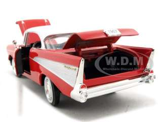 1957 CHEVROLET BEL AIR RED HT 124 DIECAST CAR MODEL