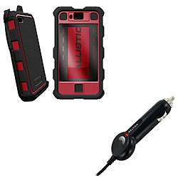 HC Samsung Infuse Black/ Red Protector Case and Micro USB Car Charger