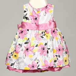 Kids Headquarters Toddler Girl Pink Floral Printed Dress