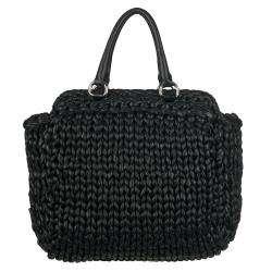 Prada Womens Black Nappa Leather Tote Bag