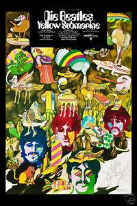 The Beatles * Yellow Submarine* German Poster 1968