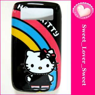 HELLO KITTY HARD Phone COVER CASE Black Berry BB9700 05