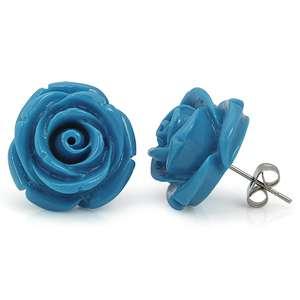 19mm turquoise blue rose flower stud earrings er2075271 0001