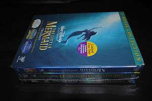 Little Mermaid Trilogy Gift Set (DVD, 2008) disney authentic sealed