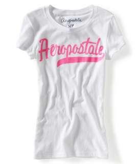aeropostale womens aero glitter logo graphic t shirt